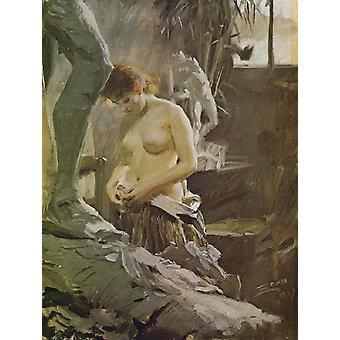 Em Wikstoms Atelje, Anders Zorn, 60x81cm
