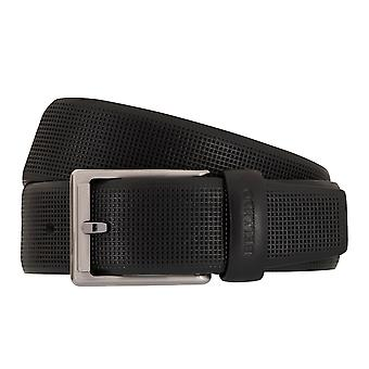 MIGUEL BELLIDO clasico belts men's belts leather belt black 7692
