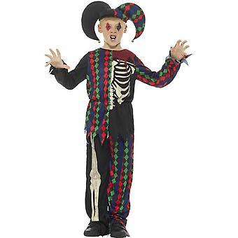 スケルトン道化師衣装、複数色で、トップ、ズボン ・帽子