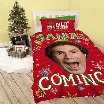 Elf nisser kommer julen reversibel Duvet Sett