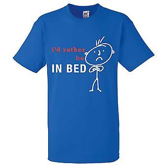 Miesten olisin mieluummin Bed kuninkaallinen sininen t-paita