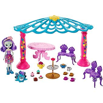 Enchantimals tuin Gazebo Patter Peacock Doll en Flap