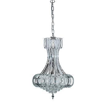 Sigma 6 Light chróm stropné luster s Crystal dekorácie-Searchlight 30021CC