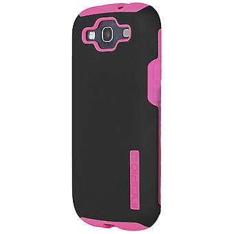 Incipio Silicrylic DualPro Case för Samsung Galaxy S3 - svart/neonrosa
