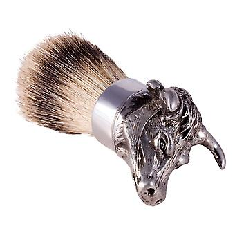 The English Pewter Co Silvertip Badger Hair Shaving Brush-Bull