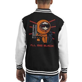 Kenny 800 South Park Terminator lapsi yliopistojoukkue takki
