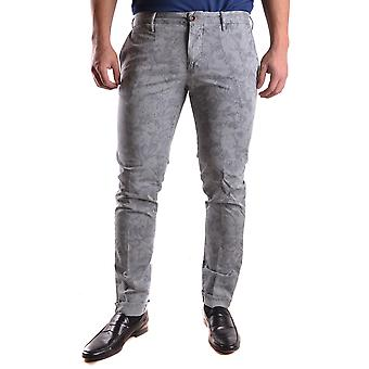 Incotex Ezbc093016 Men's Grey Cotton Pants