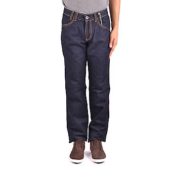 Bikkembergs Ezbc101066 Men's Blue Cotton Jeans