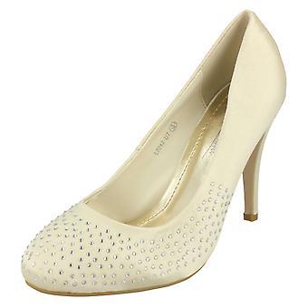 Ladies Anne Michelle Diamante Court Shoes