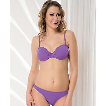 Aqua Perla - Womens - Fiji - Purple- Bikini Bottom
