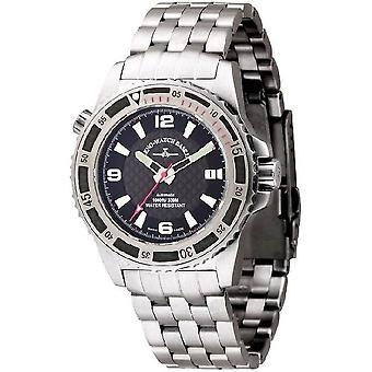 Zeno-relógio mens assistir mergulhador profissional vermelho automático 6427-s1-7 M