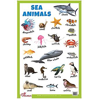 Sea Animals Educational Chart by Sea Animals Educational Chart - 9788