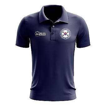 South Korea Football Polo Shirt (Navy)