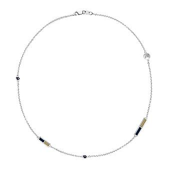 University of Akron Sapphire Chain Necklace In Sterling Silver Design by BIXLER