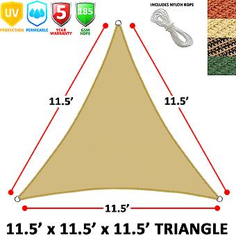 Modern Home Sail Shade Triangle (11.5' Sides)