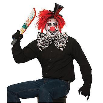 Bristol Novelty Unisex Adults Evil Clown Jumbo Bow Tie