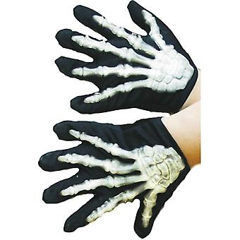 Smiffy's Skeleton Gloves Child