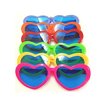 Giant Heart Glasses -Assorted Colours