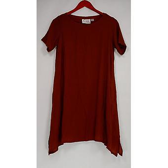 Linea de Louis Dell'Olio Petite Dress PXXS Crepe Knit Tobacco Brown A308467