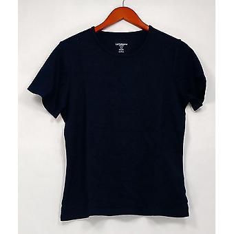 Liz Claiborne New York Top Essentials Short Sleeve Blue A214289