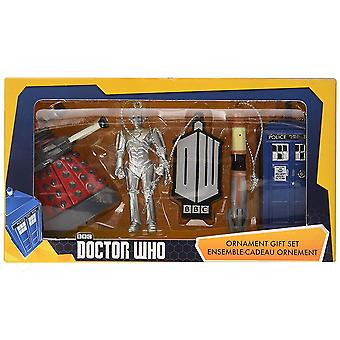 Doctor Who 2.5 'quot; Christmas Ornament 5 Pk Gift Box