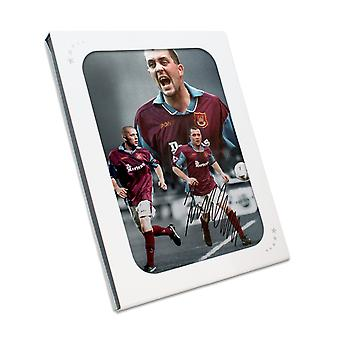 Julian Dicks Signed West Ham United Montage In Gift Box