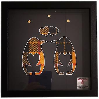 McLeod Mellow Dress Harris Tweed Penguin Love Birds Frame B by Laura Ann Cards