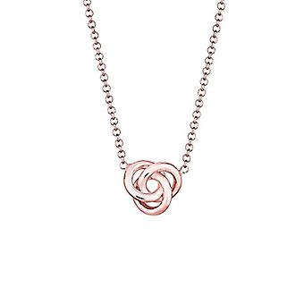 Elli Necklace with Women's Pendant in Silver - Rose Gold Plate - 45 cm 0110131116_45