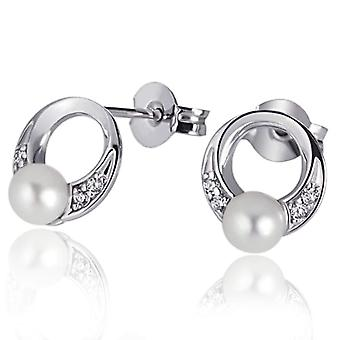 Goldmaid Silver Silver Earrings Brilliant Round Zirconia Cubic