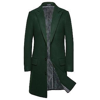 Allthemen Men ' s új stílusú egysoros 3-gombok Közép-Long Slim Fit kabát