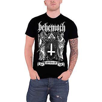 Behemoth сатанистом официальный Мужская Новый черный T рубашка