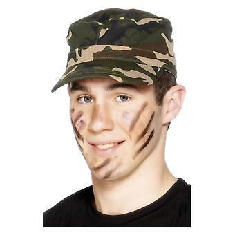 Volwassenen Army Cap Fancy Dress accessoire
