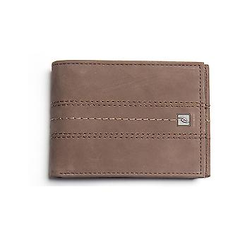 Rip Curl Stitch Icon RFID 2 In1 Leather Wallet in Brown