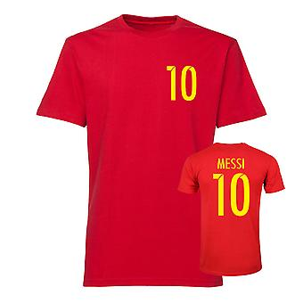 Messi style football T-shirt-red