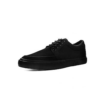 TUK Shoes Black Canvas Basic Eyelet Creeper Sneaker
