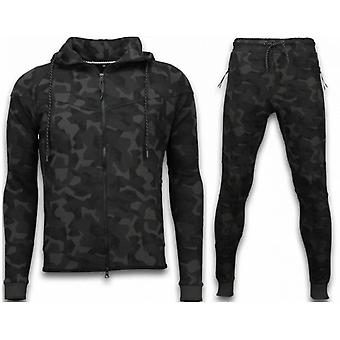 Windrunner Camo Tracksuits - Camouflage Jogging Suit - Noir