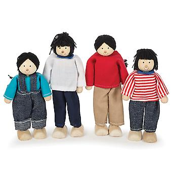 Tidlo Wooden Multicultural Dolls - Asian Family