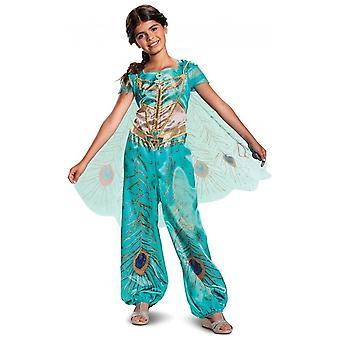 Jasmine Teal Classic Disney Aladdin Princess Genie Book Week Girls Costume