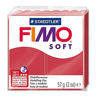 Fimo Soft modelagem Clay, Cherry Red, 57 g