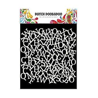 Dutch Doobadoo Mask Art Stencil - 6x6 Alfabet #470.715.603
