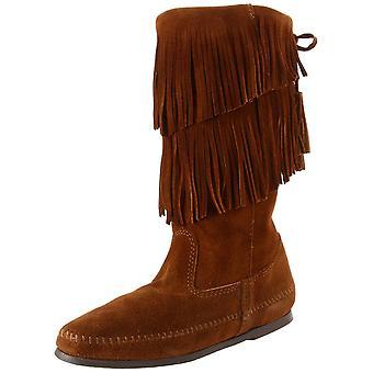 Minnetonka Womens Fringe Boot Closed Toe Knee High Fashion Boots