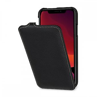 Case For IPhone 11 Ultraslim Grained Black In True Leather