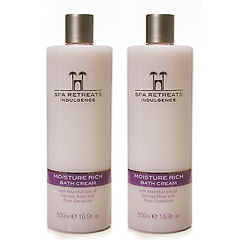 Spa retreats indulgence moisture rich bath cream 500ml (set of 2)