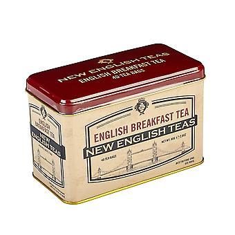 London's tower bridge tea tin with 40 english breakfast teabags