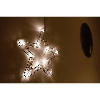 Polarlite 709661 Illuminated door wreath Star Warm white LED (monochrome) White