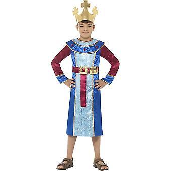 King Melchior Costume, Christmas Children's Fancy Dress, Medium Age 7-9