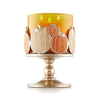 Bath & Body Works Multi Pumpkin Pedestal 3-Wick Candle Sleeve