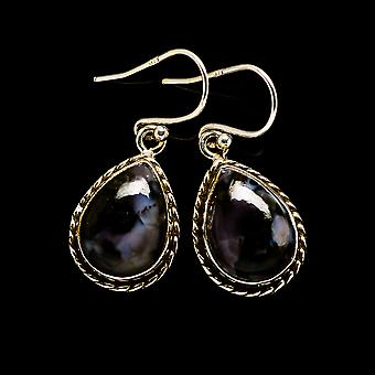 "Gabbro Earrings 1 1/4"" (925 Sterling Silver)  - Handmade Boho Vintage Jewelry EARR394541"