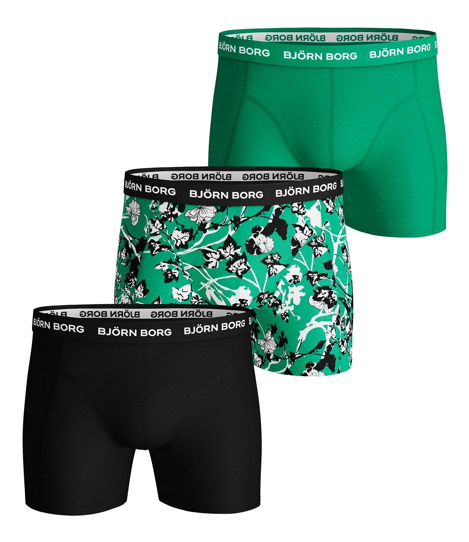 Bjorn Borg Men's Boxer Shorts 3 Pack ~ Sammy BB Fleur De Jardi
