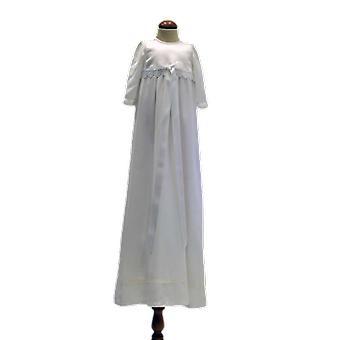 Grace Of Sweden, Dopklänning Med Lång ärm, Vit Bred Rosett